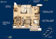 无锡孔雀城3室2厅1卫95平方米户型图