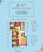 力帆翡翠华府3室2厅2卫93平方米户型图