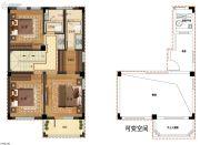 九龙仓君廷139平方米户型图