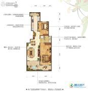 花屿海2室2厅1卫89平方米户型图
