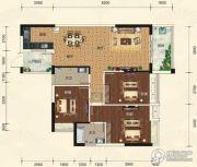 碧园・大城小院3室2厅2卫110平方米户型图