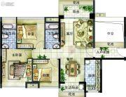 中大城3室2厅2卫107平方米户型图