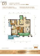 龙湖拉特芳斯3室2厅2卫88平方米户型图