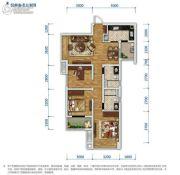 万科金域东岸3室2厅2卫93平方米户型图