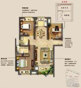 光明澜山3室2厅2卫113平方米户型图