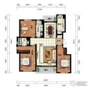万科蓝山3室2厅2卫160平方米户型图