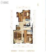 北大资源阅城3室2厅2卫106平方米户型图