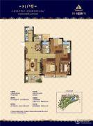恒大商业中心3室2厅2卫122平方米户型图