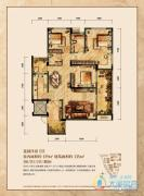 润丰水尚3室2厅2卫119平方米户型图