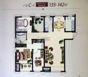 大庆国际金融中心4室2厅2卫135--142平方米户型图