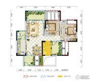远达春天里3室2厅1卫87平方米户型图