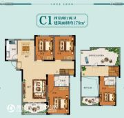 天安名郡4室2厅2卫179平方米户型图