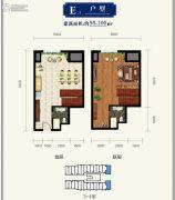 金隅环球中心1室1厅1卫98--100平方米户型图