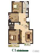 公园世家3室2厅1卫88--94平方米户型图