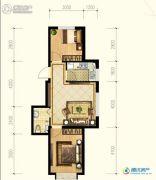 观海御景2室1厅1卫0平方米户型图