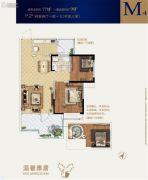 世达广场2室2厅1卫82平方米户型图
