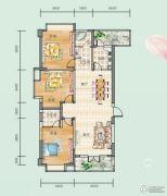 连山鼎府3室2厅2卫130平方米户型图