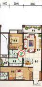 府前雅居苑2室2厅2卫89平方米户型图