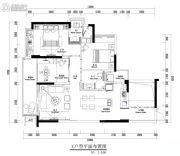 中央美地3室2厅2卫0平方米户型图