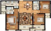 长申玉3室2厅2卫133平方米户型图
