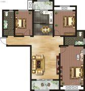 千玺�吩�3室2厅2卫141平方米户型图