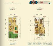 月潭壹英里2室2厅1卫75平方米户型图