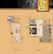漓江盘龙湾1室1厅1卫84平方米户型图