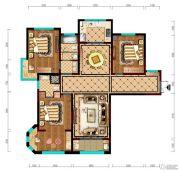 阳光城市・晶海园3室2厅2卫142平方米户型图