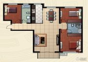 哈西万达广场3室2厅2卫123平方米户型图