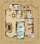 湘水明珠3室2厅2卫126平方米户型图