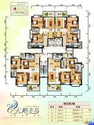 天鹅湾3室2厅2卫85--121平方米户型图