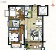 南沙心意华庭2室2厅1卫69平方米户型图
