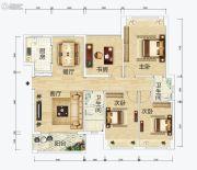 连城湾3室2厅2卫126平方米户型图