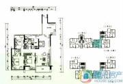 云顶澜山3室2厅2卫122平方米户型图