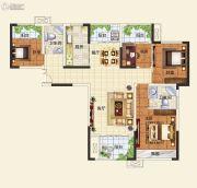 中建观湖国际4室2厅2卫128平方米户型图
