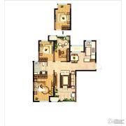 新城・尚上城3室2厅1卫99平方米户型图