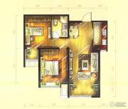 华远铭悦世家2室2厅1卫89平方米户型图