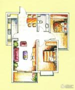 城市西景2室2厅1卫89--96平方米户型图
