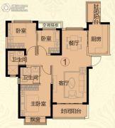 常德恒大华府3室2厅2卫116平方米户型图