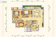 保利锦江里3室2厅2卫97平方米户型图