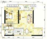 港城星座1室2厅1卫60--65平方米户型图