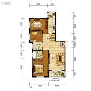 五矿・弘园3室2厅2卫128平方米户型图