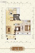 上官锦城2室2厅1卫84平方米户型图