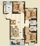海山广场3室2厅2卫128平方米户型图