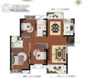 新力金沙湾3室2厅1卫107平方米户型图