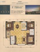 公园柒�3室2厅2卫136平方米户型图