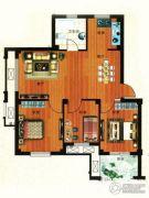 金港嘉园3室2厅1卫89平方米户型图