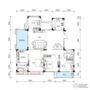 玫瑰园4室2厅2卫165平方米户型图