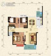 恒大绿洲3室2厅2卫102平方米户型图