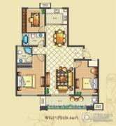 佳源・公园一号3室2厅2卫128平方米户型图